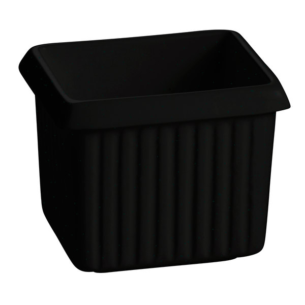 Tablecraft CW1500BKGS 1 Qt. Black with Green Speckle Cast Aluminum Rectangle Server with Ridges