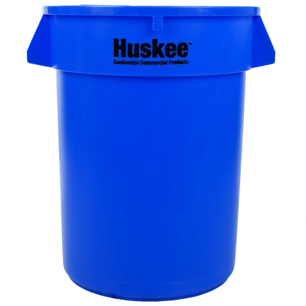 Continental 3200BL Huskee 32 Gallon Blue Round Trash Can