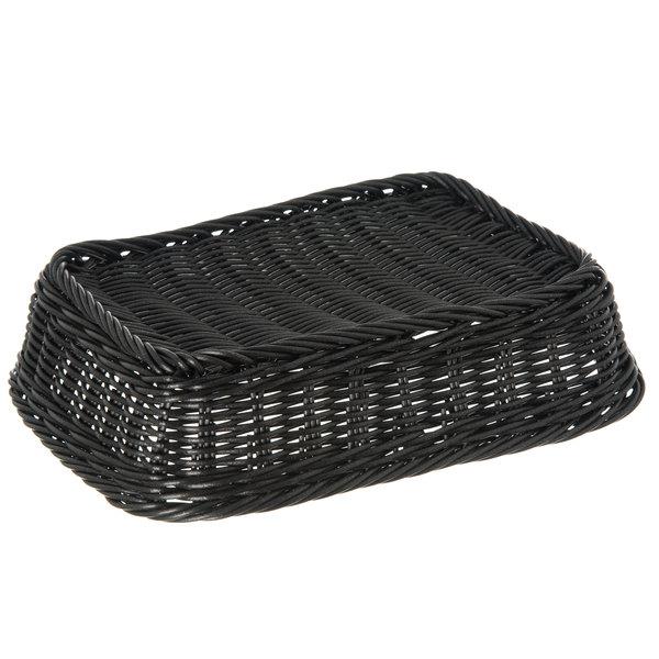 Carlisle 655203 Black 11 1 2 X 8 1 2 Woven Rectangular Basket 6 Case