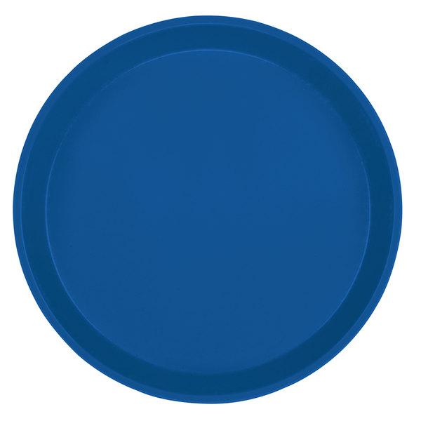 "Cambro 900123 9"" Round Amazon Blue Customizable Fiberglass Camtray - 12/Case"
