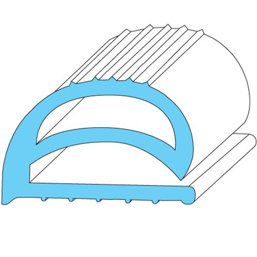 """All Points 74-1190 Compression Door Gasket Strip - 10' x 11/16"""" x 1/2"""" Main Image 1"""