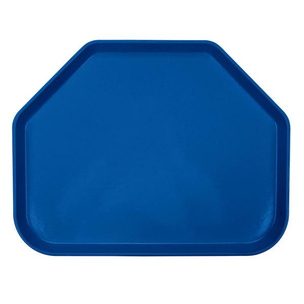 "Cambro 1418TR123 14"" x 18"" Trapezoid Amazon Blue Customizable Fiberglass Camtray - 12/Case"