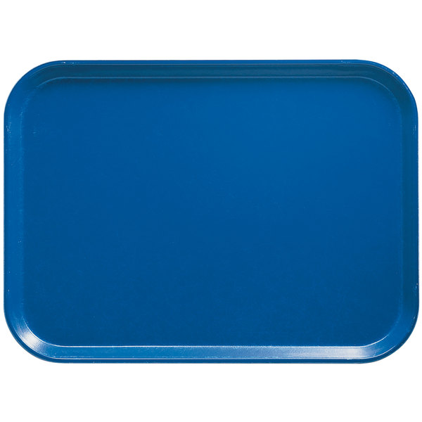 "Cambro 3853123 14 3/4"" x 20 7/8"" (37,5 x 53 cm) Rectangular Metric Amazon Blue Customizable Fiberglass Camtray - 12/Case"