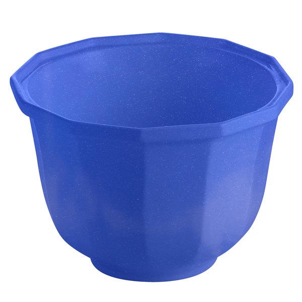 Tablecraft CW1792BS 3.25 Qt. Blue Speckle Cast Aluminum Round Prism Bowl