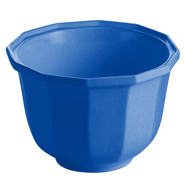 Tablecraft CW1792CBL 3.25 Qt. Cobalt Blue Cast Aluminum Round Prism Bowl
