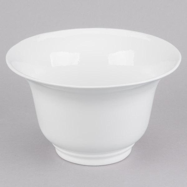 Tablecraft CW3130W 3.25 Qt. White Cast Aluminum Tulip Salad Bowl