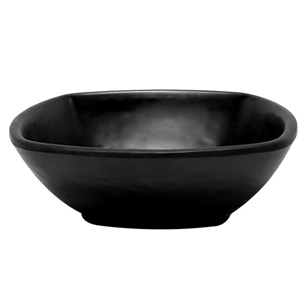 Elite Global Solutions JW4033 Ore 8 oz. Black Square Bowl
