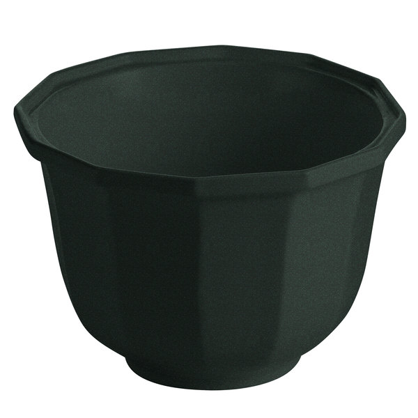 Tablecraft CW1792BKGS 3.25 Qt. Black with Green Speckle Cast Aluminum Round Prism Bowl
