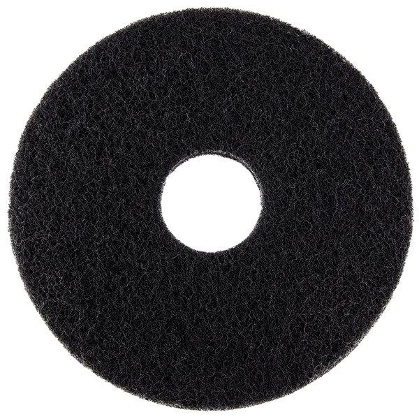 "Oreck 437071 Equivalent 12"" Black Stripping Floor Pad - 5/Case Main Image 1"
