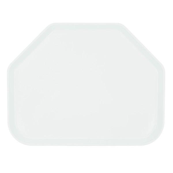 "Cambro 1422TR148 14"" x 22"" Trapezoid White Customizable Fiberglass Camtray - 12/Case"