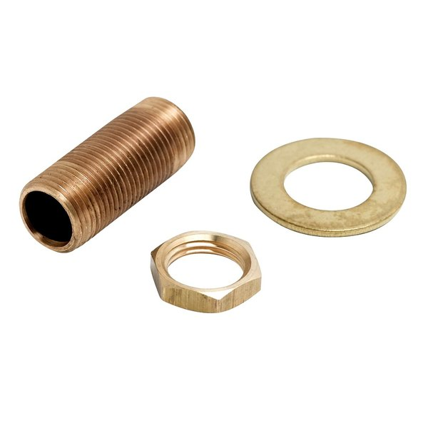 """T&S BL-5500-09 2"""" Panel Supply Nipple, Locknut, and Washer"""