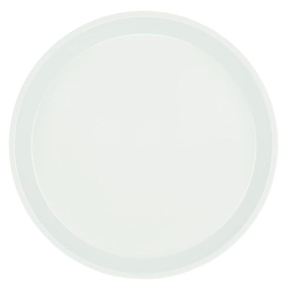 "Cambro 900148 9"" Round White Customizable Fiberglass Camtray - 12/Case"