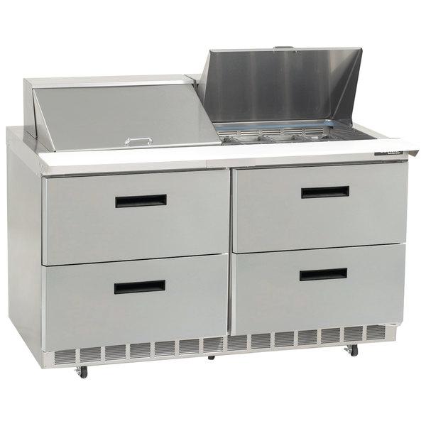 "Delfield D4464N-24M 64"" 4 Drawer Mega Top Refrigerated Sandwich Prep Table"
