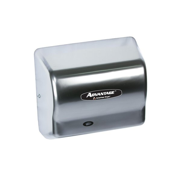 American Dryer AD90C Advantage Series Automatic Hand Dryer with Chrome Cover - 100/240V, 1250-1400W