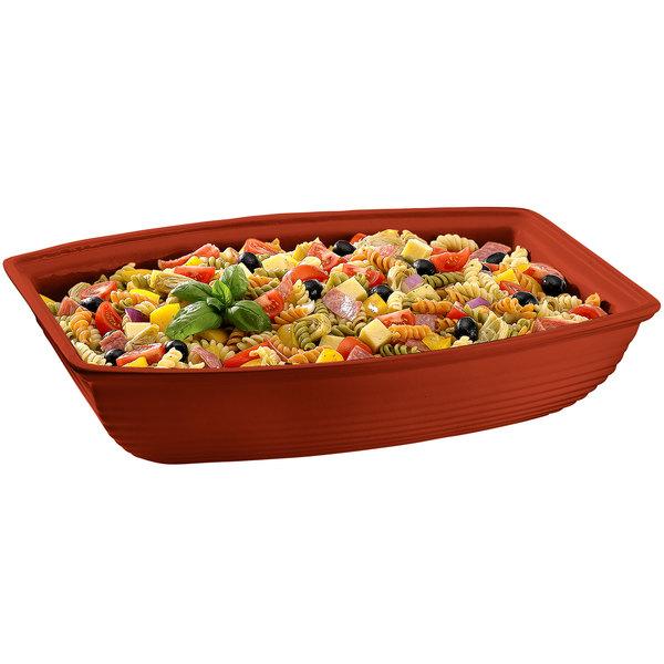 Tablecraft CW3190CP 10.5 Qt. Copper Cast Aluminum Oblong Salad Bowl