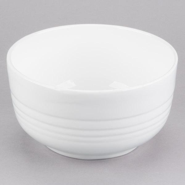 Tablecraft CW3170W 3.5 Qt. White Cast Aluminum Fruit Bowl