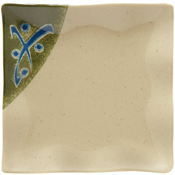 """GET 252-10-TD Japanese Traditional 4"""" Square Dish - 24/Case"""