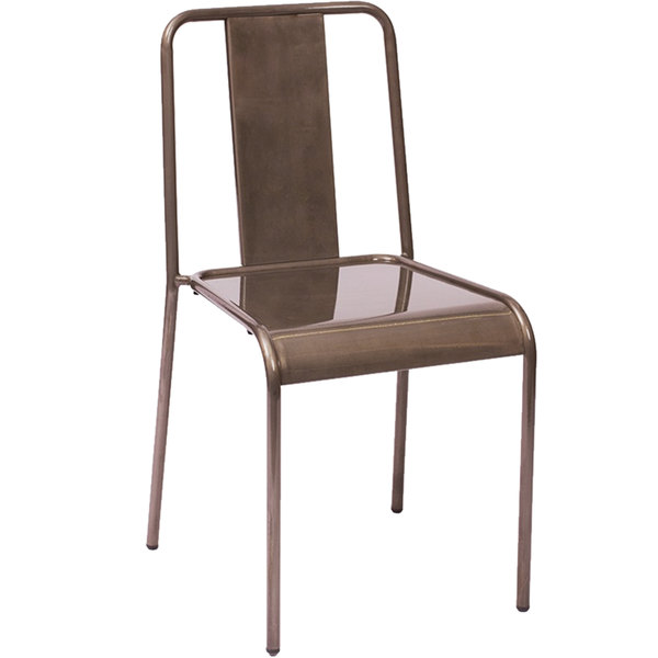 BFM Seating DV580CL Tara Stackable Steel Side Chair