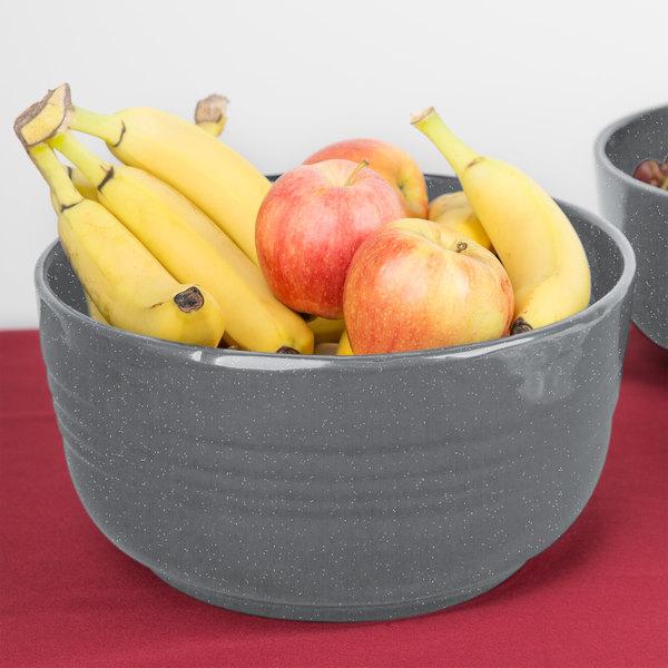 Tablecraft CW3180GR 6.75 Qt. Granite Cast Aluminum Fruit Bowl