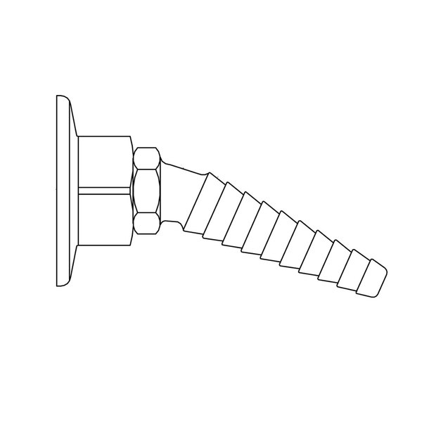 T&S BL-9550-01GRN Green Cold Water Panel Flange with Angled Serrated Tip