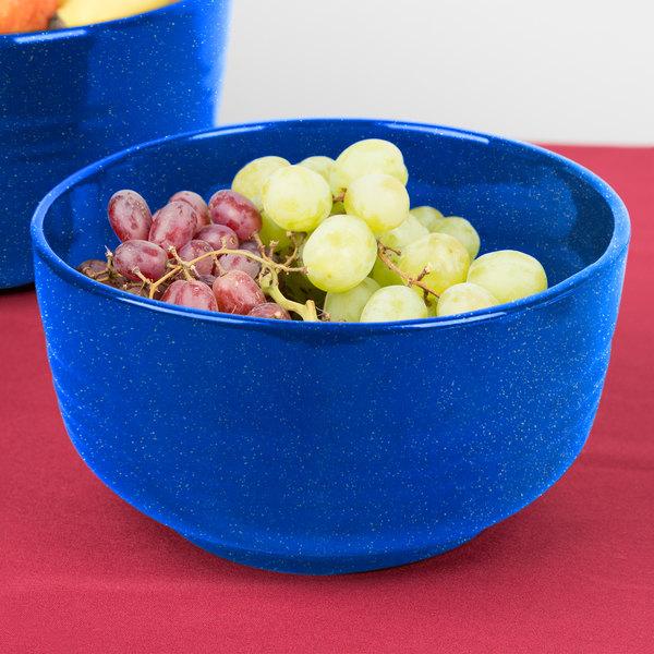 Tablecraft CW3170BS 3.5 Qt. Blue Speckle Cast Aluminum Fruit Bowl