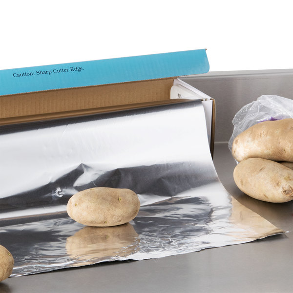 "Choice 18"" x 500' Food Service Standard Aluminum Foil Roll Main Image 4"