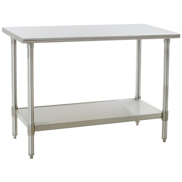 "Eagle Group T2460B 24"" x 60"" Stainless Steel Work Table with Galvanized Undershelf"