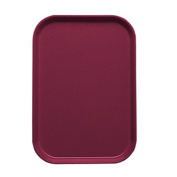 "Cambro 1015522 10 1/8"" x 15"" Burgundy Wine Customizable Insert for 1520 Fiberglass Camtray - 24/Case"