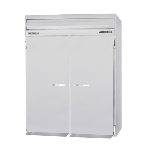 """Beverage-Air PRT2-1AS 66"""" Stainless Steel Solid Door Roll Thru Refrigerator"""