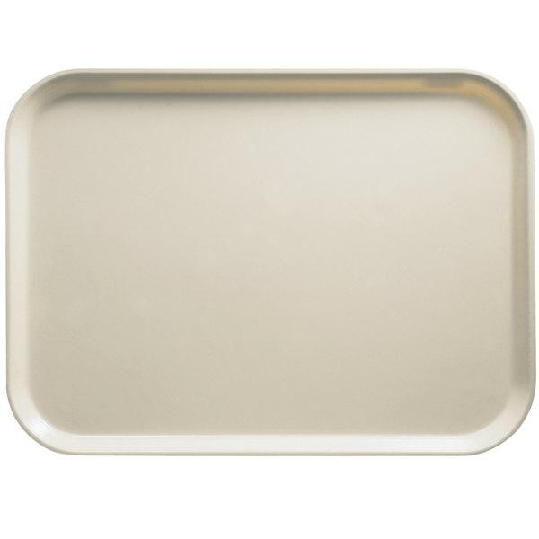 "Cambro 1014538 10 5/8"" x 13 3/4"" Rectangular Cottage White Customizable Fiberglass Camtray - 12/Case"