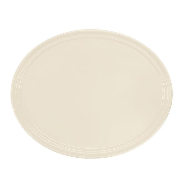 "Cambro 2700538 22"" x 26 7/8"" Oval Cottage White Customizable Fiberglass Camtray - 6/Case"