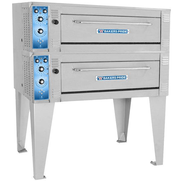 "Bakers Pride ER-2-12-3836 55"" Double Deck Electric Roast / Bake Oven - 220-240V, 1 Phase"