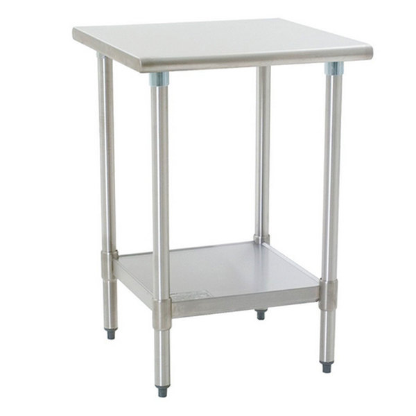 """Eagle Group T3024B 30"""" x 24"""" Stainless Steel Work Table with Galvanized Undershelf Main Image 1"""