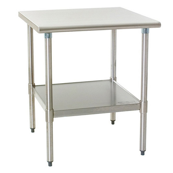 """Eagle Group T2436B 24"""" x 36"""" Stainless Steel Work Table with Galvanized Undershelf Main Image 1"""