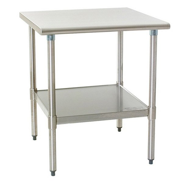 """Eagle Group T2430B 24"""" x 30"""" Stainless Steel Work Table with Galvanized Undershelf"""