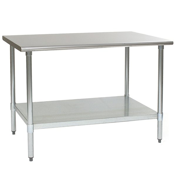 """Eagle Group T3048SEB 30"""" x 48"""" Stainless Steel Deluxe Work Table with Stainless Steel Undershelf"""