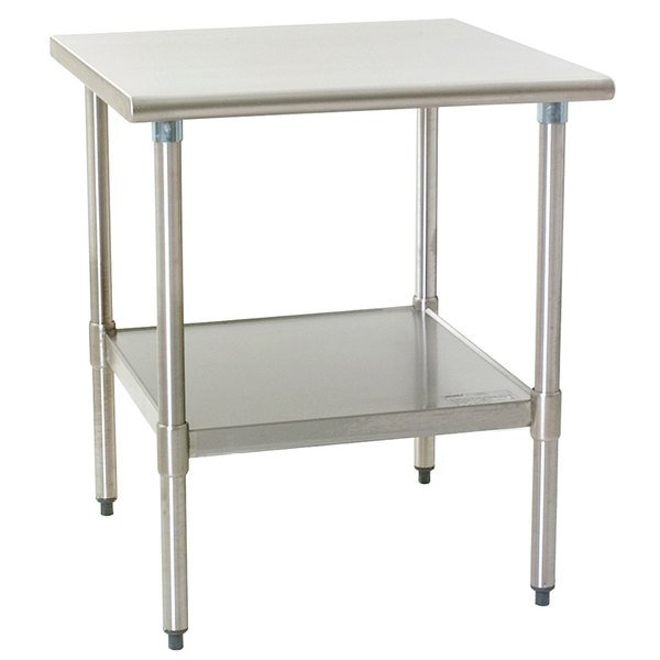 """Eagle Group T2430SEB 24"""" x 30"""" Stainless Steel Deluxe Work Table with Stainless Steel Undershelf"""