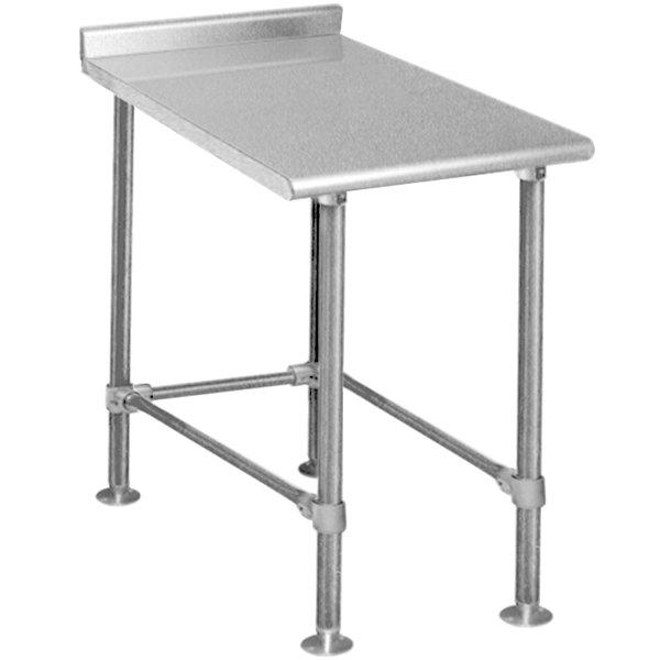 """Eagle Group UT3015STEB Deluxe 15"""" x 30"""" Stainless Steel Equipment Filler Table"""