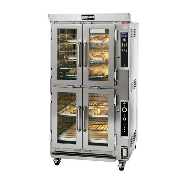 Doyon JAOP6SL Double Deck Jet Air Electric Oven Proofer Combo with Side Pan Loading - 240V, 14 kW