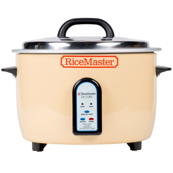 155712612a5 Town 56822 50 Cup (25 Cup Raw) Electric Rice Cooker / Warmer - 120V, 1700W