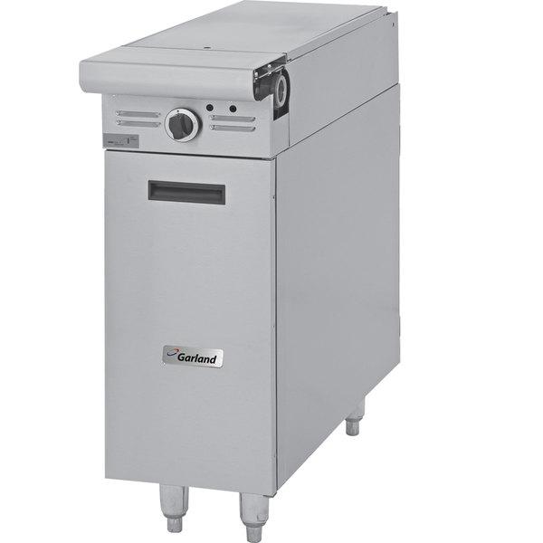 """Garland M12S-6 Master Series Liquid Propane 12"""" Even Heat Hot Top Range Attachment with Storage Base - 22,000 BTU"""