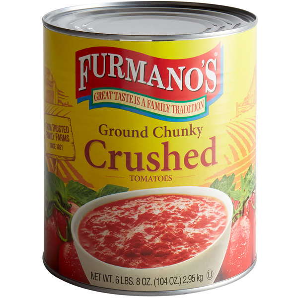 Furmano's #10 Can Chunky Crushed Tomatoes - 6/Case Main Image 1