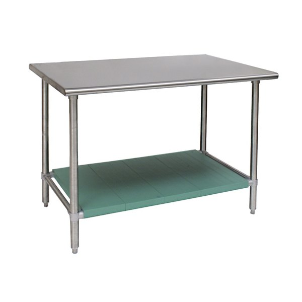 """Eagle Group T3072STB-L1 30"""" x 72"""" Stainless Steel Work Table with LIFESTOR Undershelf"""