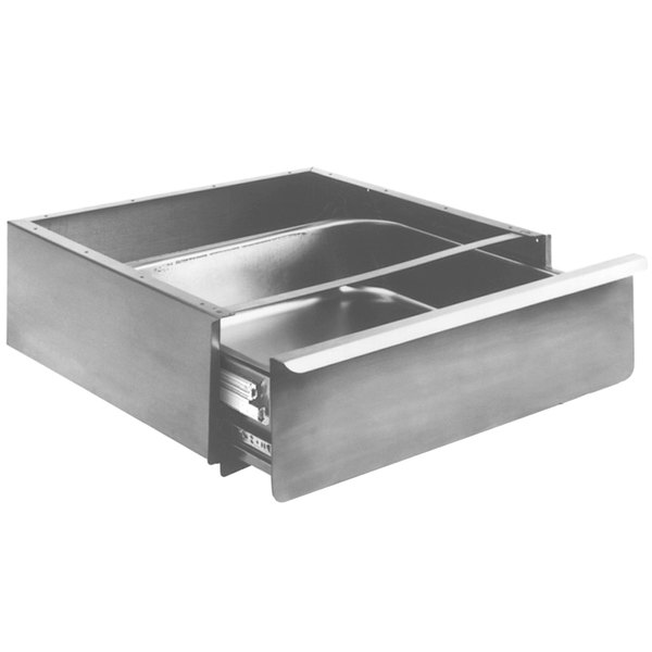 """Eagle Group 502946 Stainless Steel 20"""" x 20"""" x 5"""" Enclosed Work Table Drawer - NSF Slides Main Image 1"""