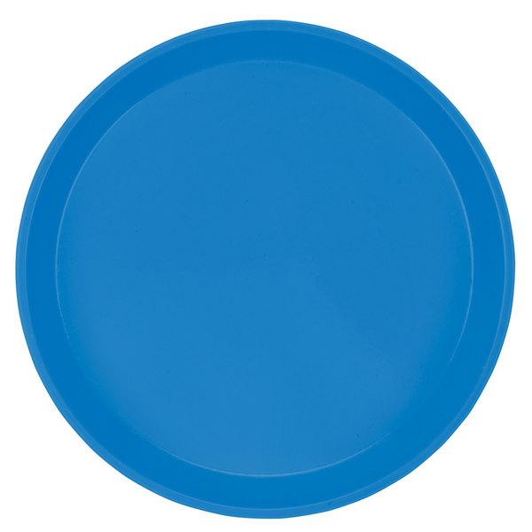 "Cambro 1000105 10"" Round Horizon Blue Customizable Fiberglass Camtray - 12/Case"