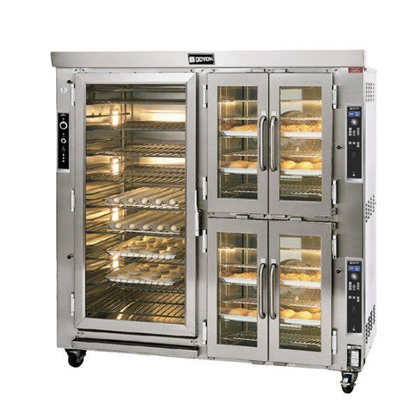 Doyon JAOP12SL Two Section Jet Air Electric Oven Proofer Combo with Side Pan Loading - 208V, 3 Phase, 24.5 kW