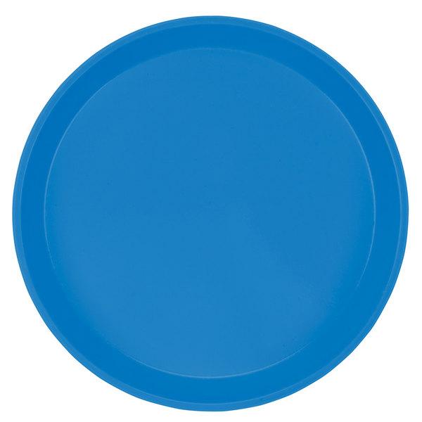 "Cambro 1100105 11"" Round Horizon Blue Customizable Fiberglass Camtray - 12/Case"