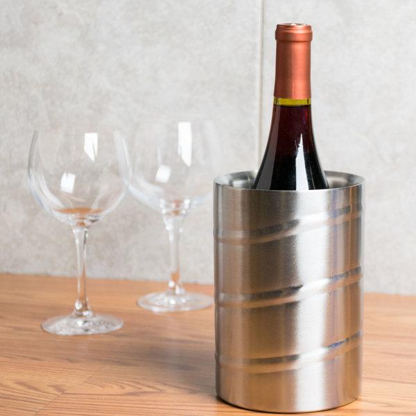 American Metalcraft SWSC Double Wall Single Bottle Swirl Wine Chiller