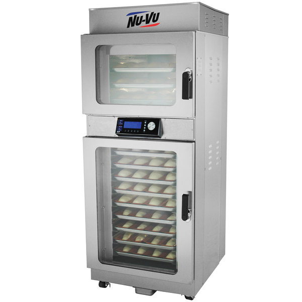NU-VU OP-3/9A Double Deck Electric Oven Proofer Combo with Programmable Controls - 240V, 1 Phase, 5.2 kW