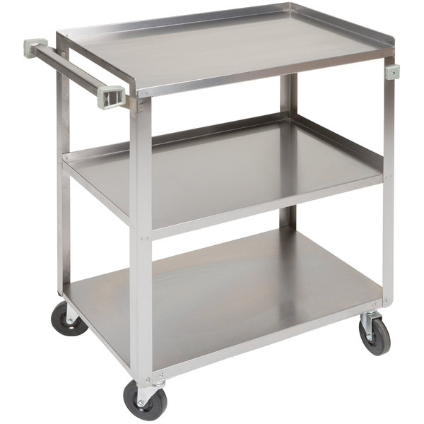 Stainless Steel 3 Shelf Utility Cart - 27 1/2\